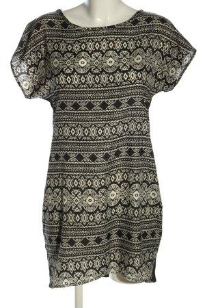 Apricot Shirtkleid schwarz-wollweiß grafisches Muster Casual-Look