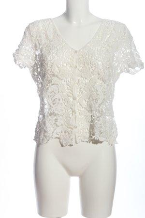Apricot Kanten blouse wit casual uitstraling