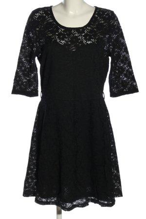 Apricot Kanten jurk zwart bloemenprint elegant