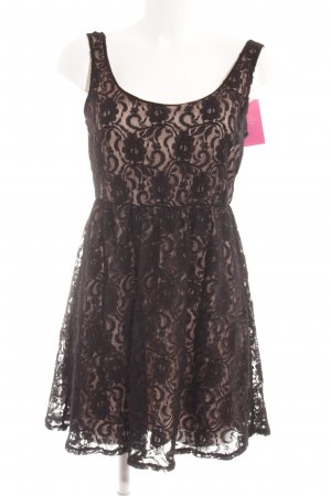 Apricot Lace Dress black-cream elegant