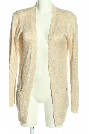 Apricot Knitted Cardigan cream casual look