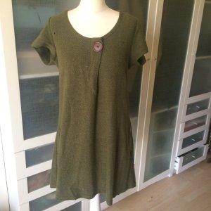 Apricot Gebreide jurk donkergroen-bos Groen
