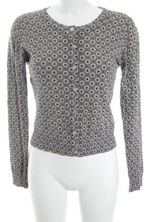 Apricot Veste en tricot motif de fleur style décontracté