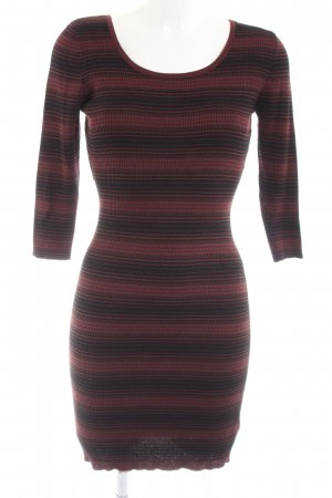 Apricot Knitted Dress red-black striped pattern casual look