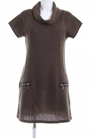 Apricot Knitted Dress brown casual look