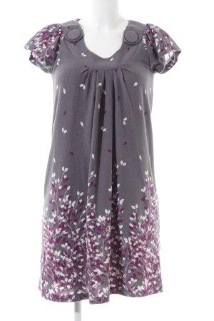 Apricot Robe en maille tricotées motif de fleur élégant
