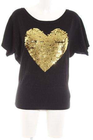 Apricot T-shirts en mailles tricotées noir style décontracté