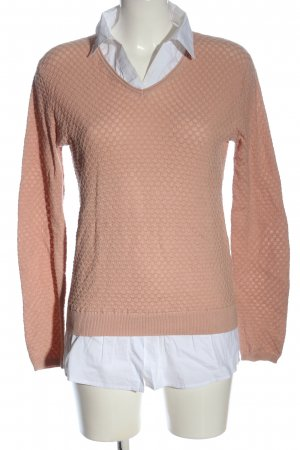 Apricot Feinstrickpullover nude-weiß Casual-Look