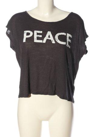Apricot T-Shirt braun-weiß Schriftzug gedruckt Casual-Look