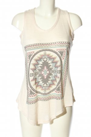 Apricot Tanktop wollweiß abstraktes Muster Casual-Look