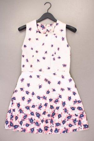 Apricot Trägerkleid Größe L mit Blumenmuster Ärmellos weiß aus Baumwolle