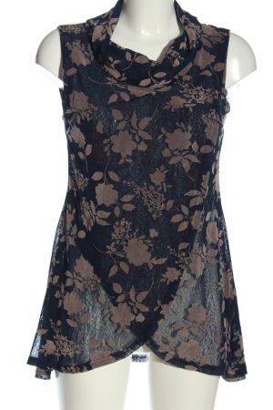 Apricot Transparentna bluzka nude-niebieski Na całej powierzchni W stylu casual