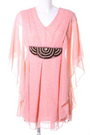 Apricot Tunic Dress pink-white allover print elegant