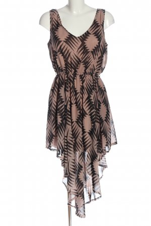 Apricot High Low Dress nude-black allover print casual look