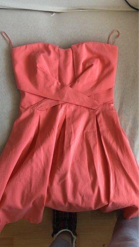 Orsay Sukienka bez ramiączek brzoskwiniowy Bawełna