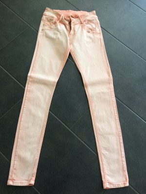 Pantalon cinq poches abricot