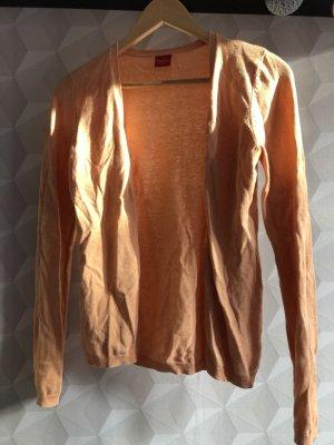 Esprit Veste en tricot abricot coton