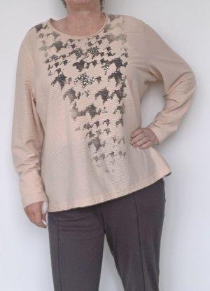 apricotfarbenes Damen Shirt von Gerry Weber, langarm, Gr. 48