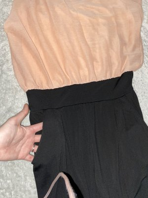 Aprikose schwarz jumpsuit
