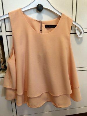 Aprikotfarbene Bluse