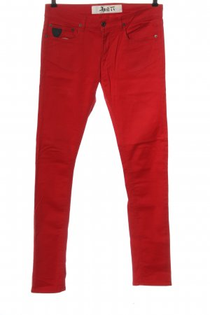 April 77 Skinny jeans rood casual uitstraling