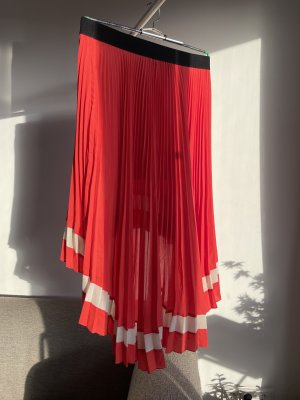 April, May Asymmetry Skirt red-natural white polyester