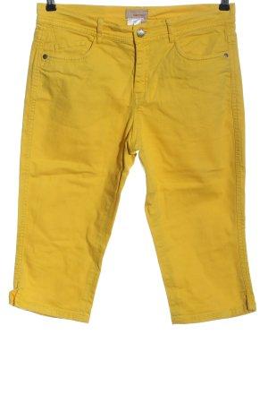 Apriori Spodnie 3/4 bladożółty W stylu casual