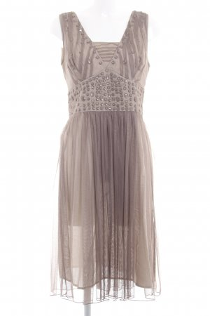 Apriori Sukienka o kroju litery A szaro-brązowy Elegancki