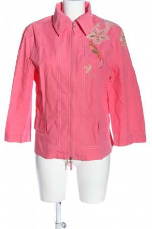 Apriori Blouse Jacket pink flower pattern casual look