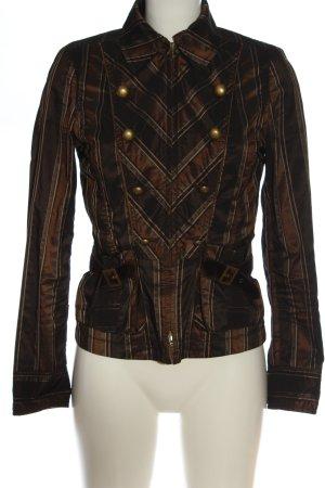 Apriori Veste courte brun-noir motif rayé style décontracté