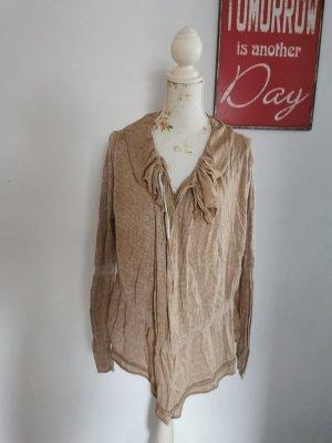 Apriori Cardigan tricotés chameau-brun sable viscose