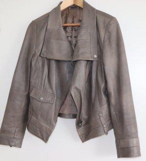 Apriori Veste en cuir gris brun cuir