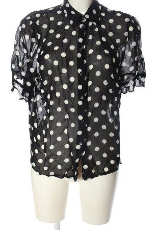 Apriori Hemd-Bluse schwarz-weiß Punktemuster Casual-Look