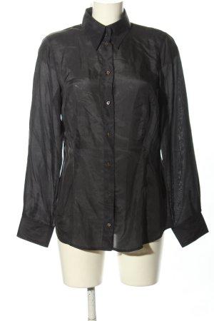 Apriori Koszulowa bluzka czarny W stylu biznesowym