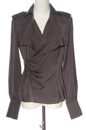 Apriori Koszulowa bluzka brązowy W stylu biznesowym