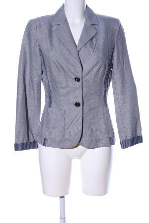 Apriori Jerseyblazer hellgrau-blau Karomuster Business-Look