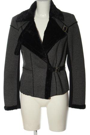 Apriori Giacca in eco pelliccia grigio chiaro-nero puntinato stile casual