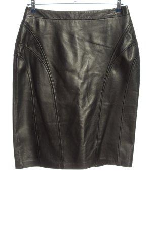Apriori Leren rok zwart casual uitstraling