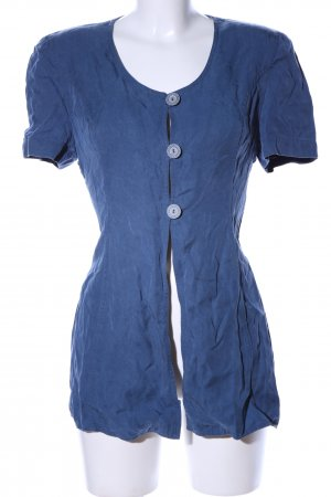 Apriori Kurzarm-Bluse blau Casual-Look