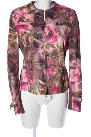 Apriori Kurzjacke pink-khaki Blumenmuster Casual-Look