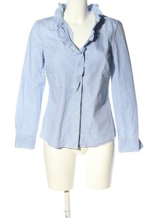 Apriori Blouse met lange mouwen blauw-wit volledige print zakelijke stijl