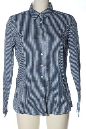 Apriori Shirt met lange mouwen blauw-wit gestreept patroon zakelijke stijl