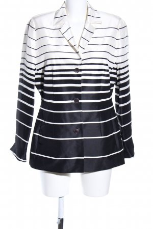 Apriori Long Blazer white-black striped pattern casual look