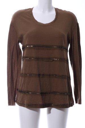 Apriori Longsleeve brown striped pattern casual look