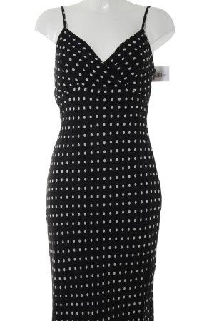 Apriori Sukienka midi biały-czarny Wzór w kropki