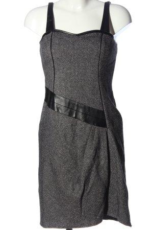 Apriori Sukienka mini jasnoszary-czarny W stylu biznesowym