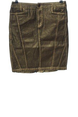 Apriori Mini-jupe doré style décontracté