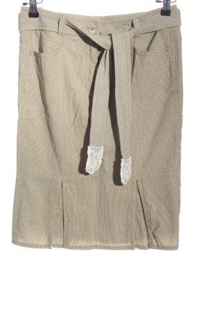 Apriori Minifalda crema estampado a rayas look casual