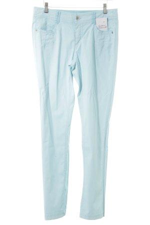 Apriori Drainpipe Trousers baby blue casual look