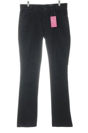 Apriori Jeans met rechte pijpen zwart casual uitstraling
